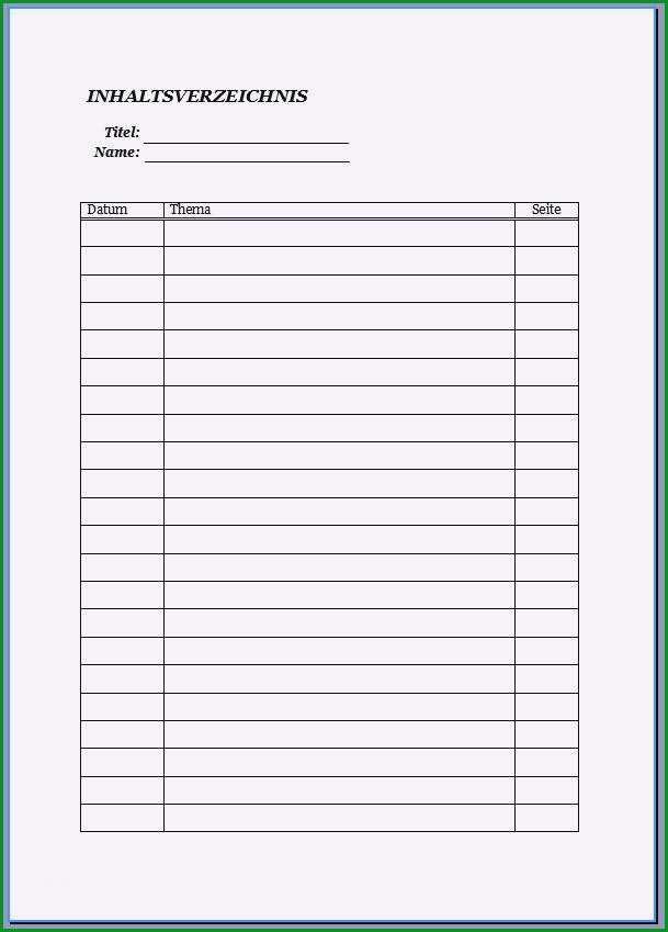 register ordner vorlage