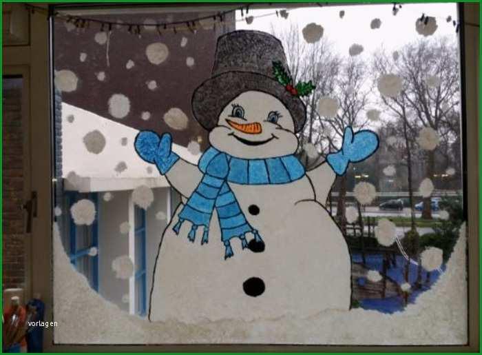 schneemann fensterbild winter fensterbilder basteln