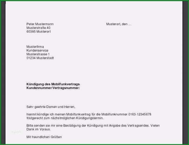 telekom handyvertrag kundigen vorlage einzigartig kundigung handyvertrag vorlage