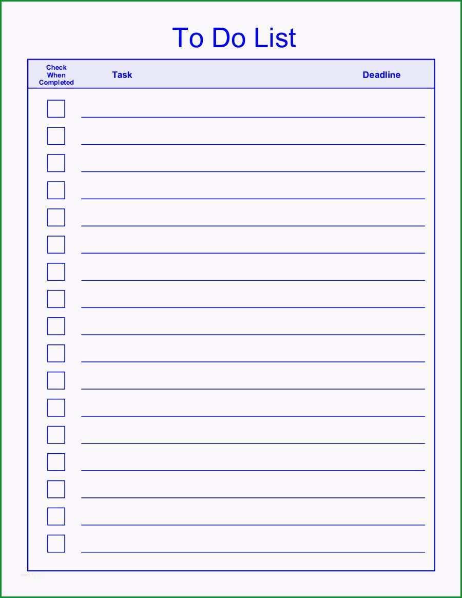 to do liste vorlage word neu things to do list template pdf