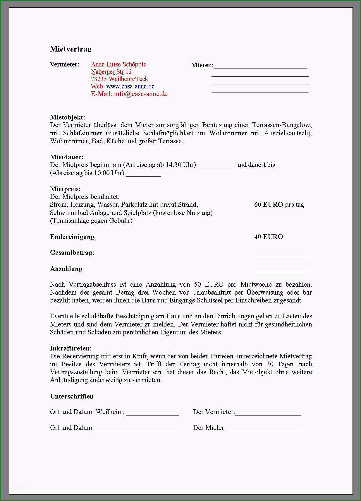 vorlage kundigung mietvertrag 2