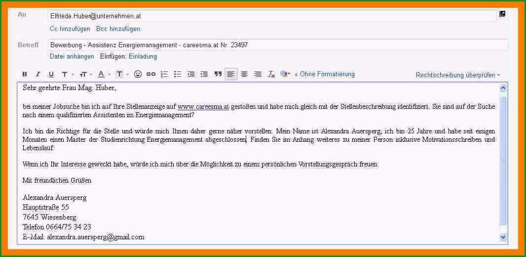 16 anschreiben email bewerbung