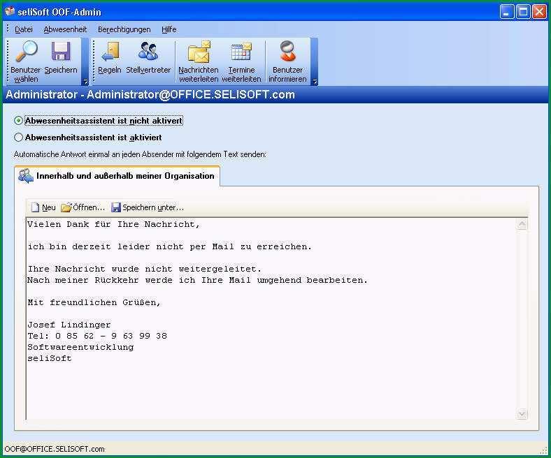 automatische email antwort vorlage