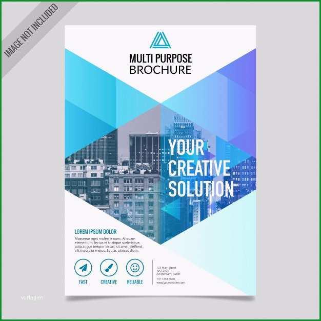 business broschuere design vorlage