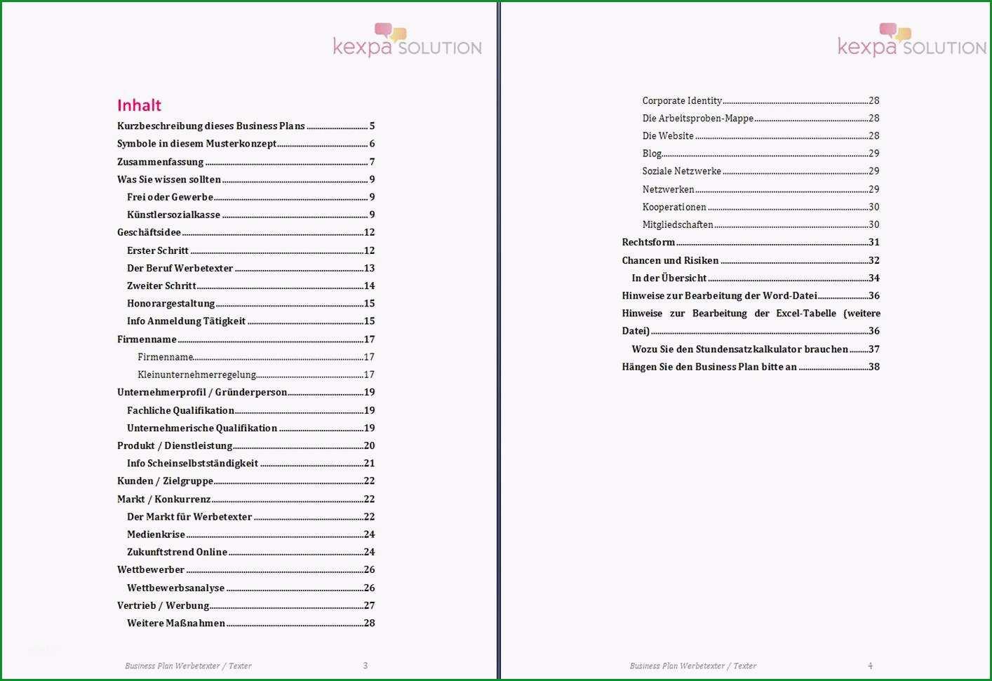 businessplan word vorlage