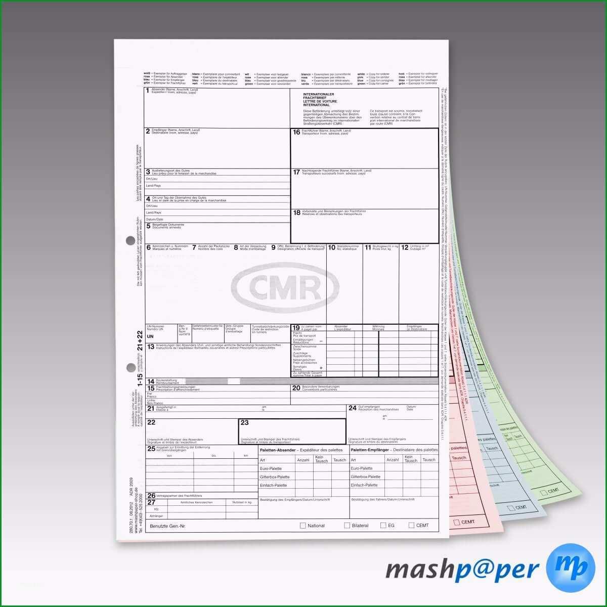 CMR Frachtbrief mit PDF Vorlage Software