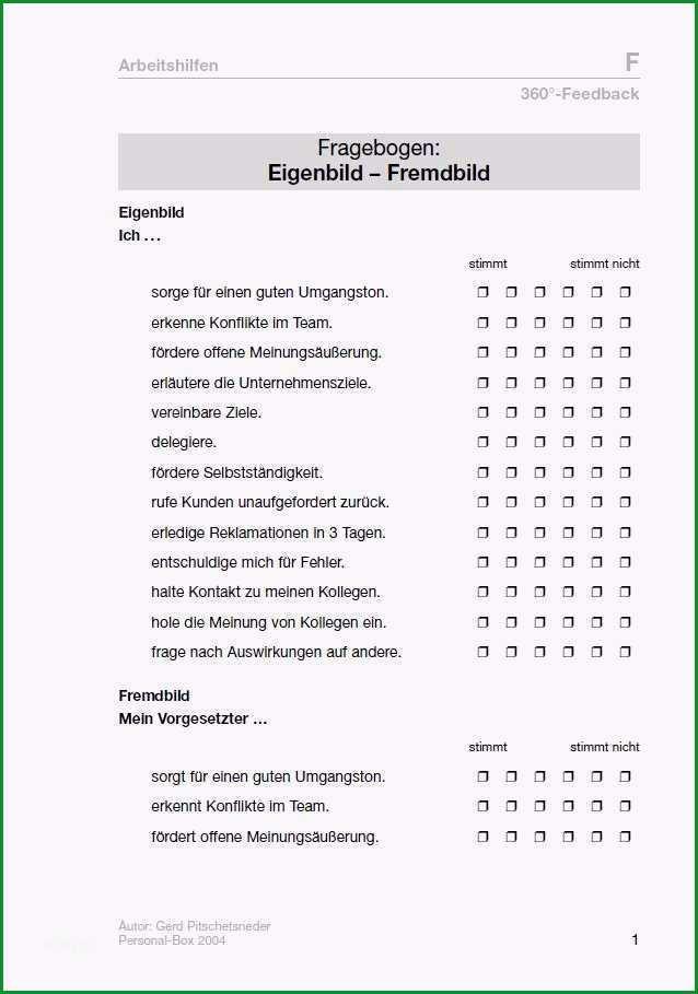 feedbackbogen vorlage word neu fragebogen 360 feedback