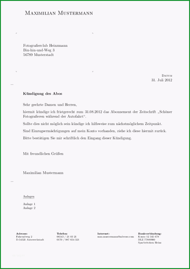 Selten formellen Brief Mit Latex Und G Brief2 Setzen