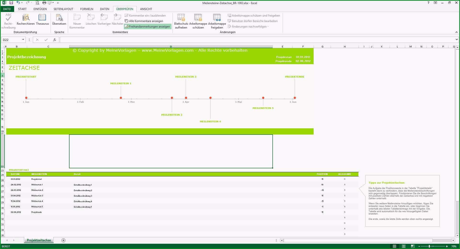 Selten Meilensteinplan Excel Vorlage Meilenstein Zeitachse