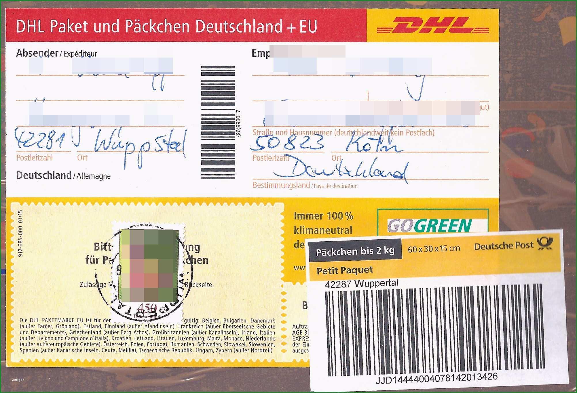 postpaket aufkleber