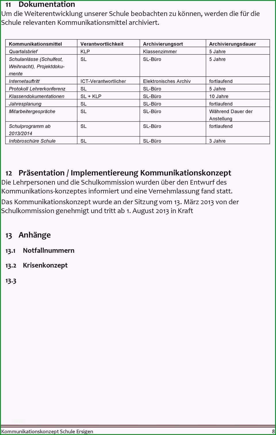 Selten Projektdokumentation Vorlage Frisch Besten Der