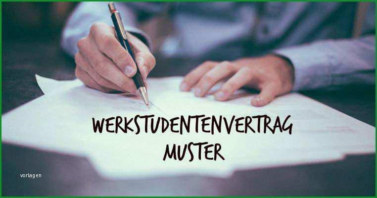 werkstudentenvertrag muster