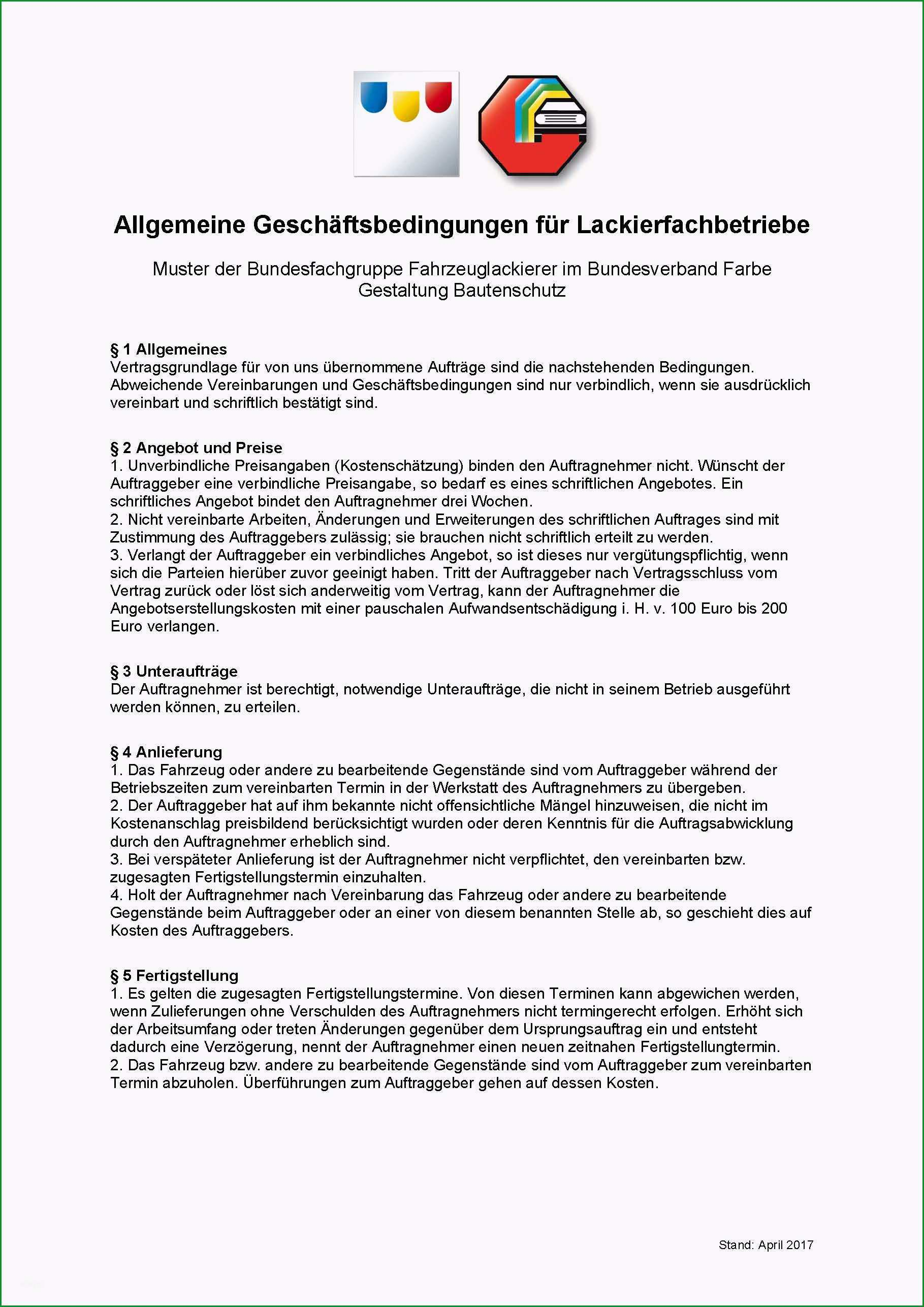 agb fuer lackierfachbetriebe ueberarbeitet stand april 2017