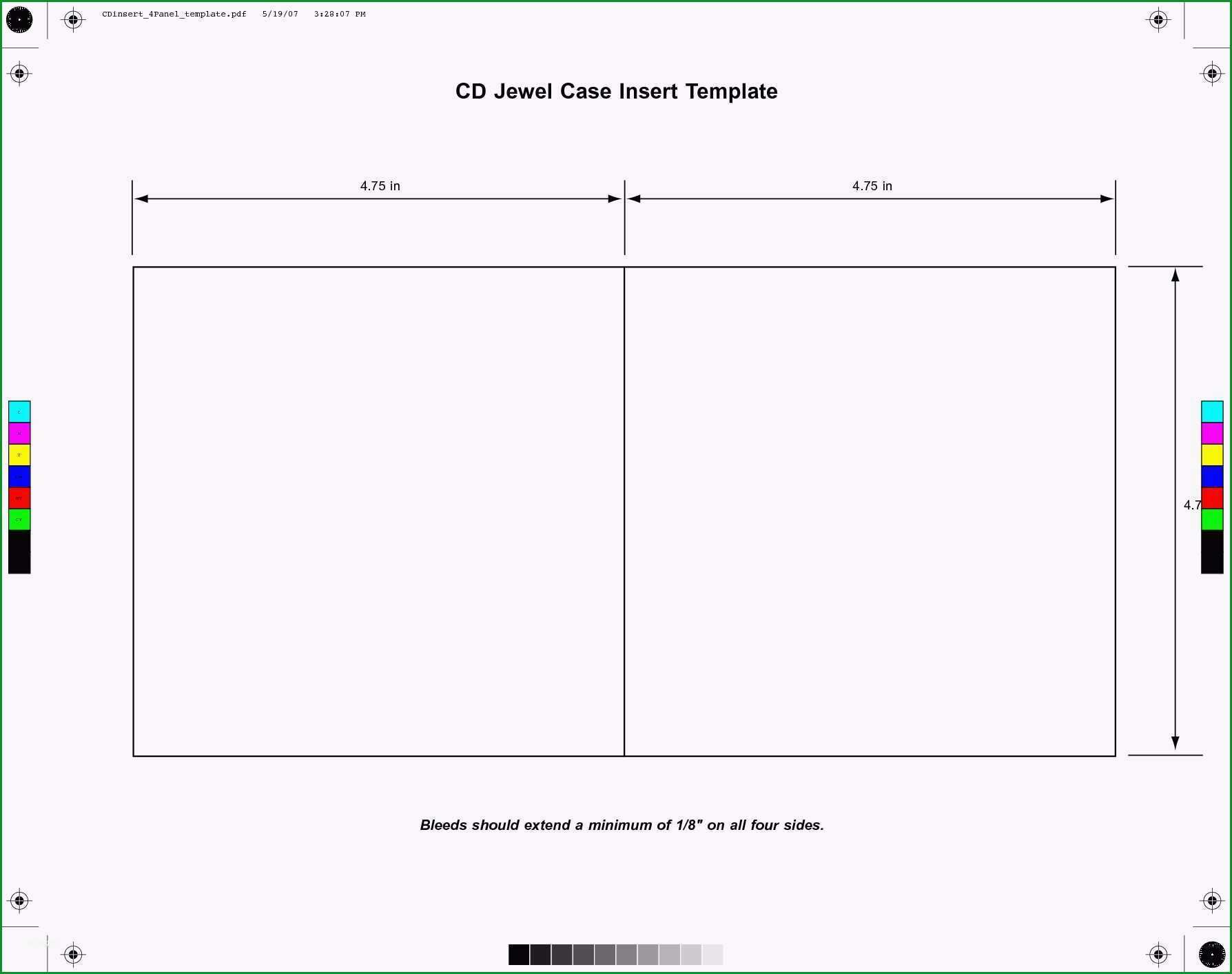 cd booklet template psd