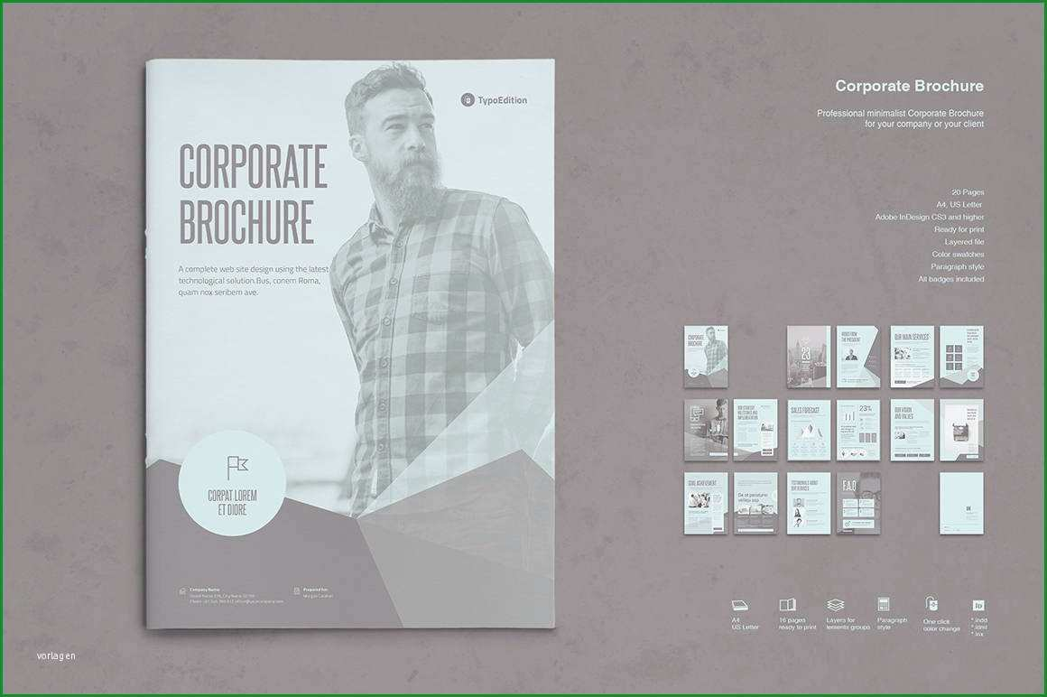 business broschure druckvorlage o