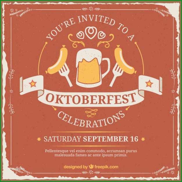 Sensationell Einladung Zum Oktoberfest