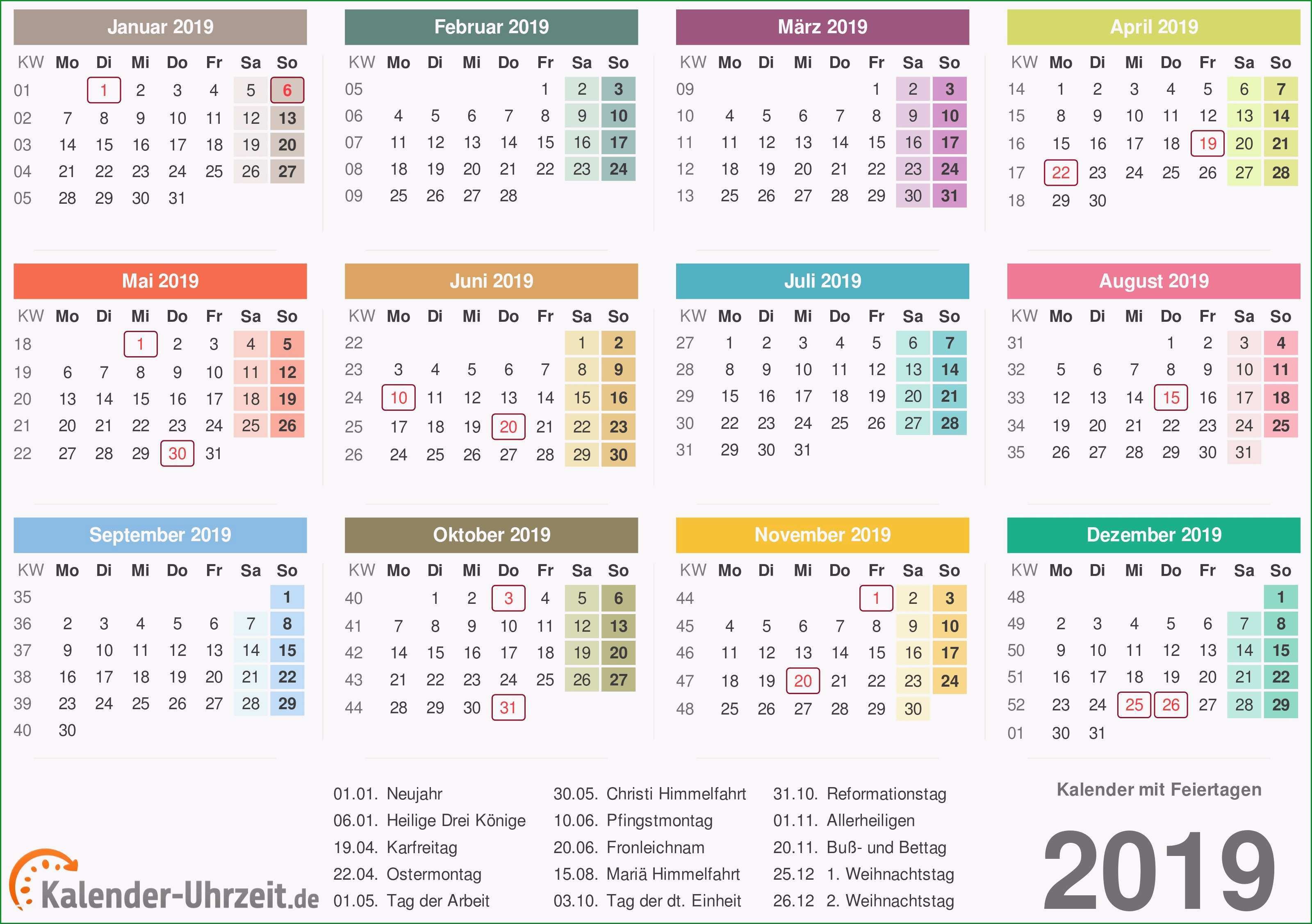 fotokalender 2018 vorlage angenehm kalender 2019 mit feiertagen