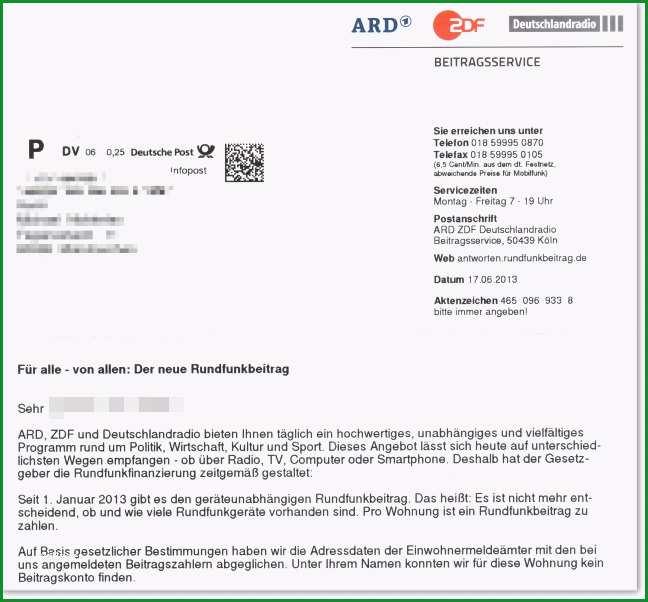 gez kundigen vorlage erstaunlich ard zdf deutschlandradio beitragsservice verweigern