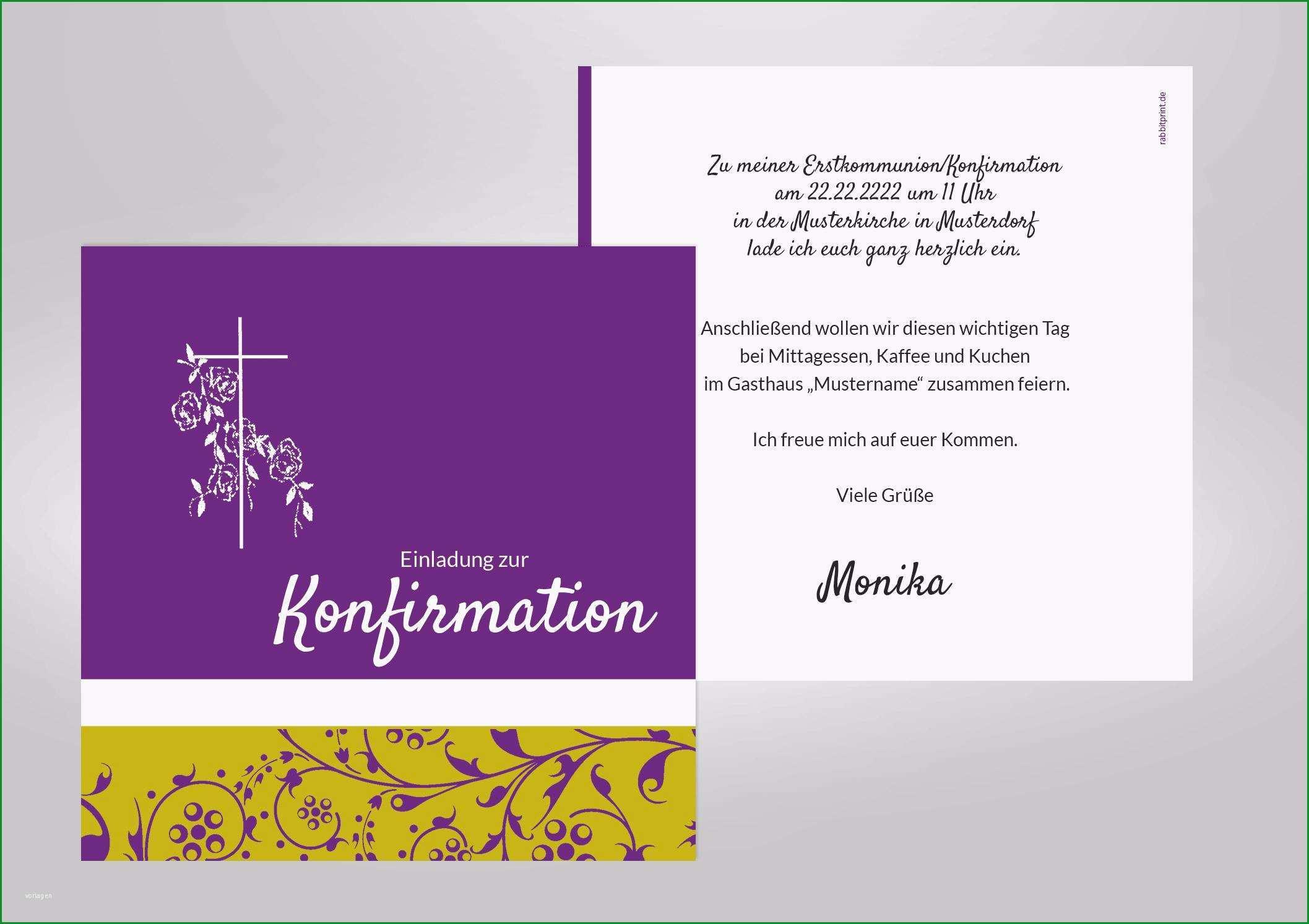 Sensationell Konfirmation Einladungskarten Einladungskarten