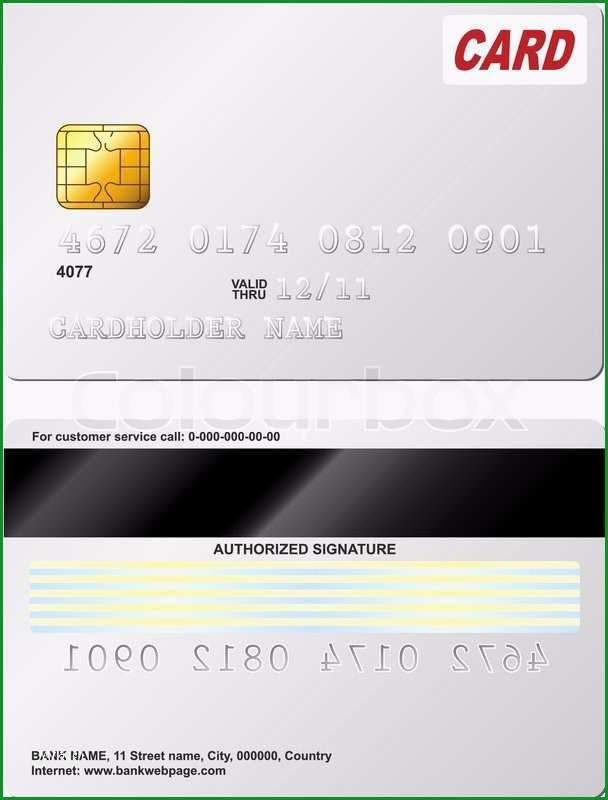 leere kreditkarte vektor vorlage vordere und hintere ansicht vektor