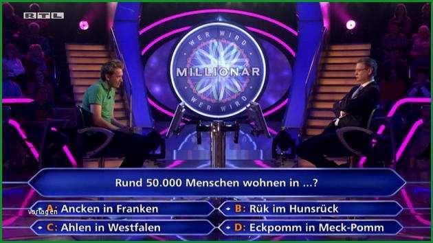 RTL Quiz Show Wer wird Millionaer 2000 Euro fuer Ahlen in Westfalen