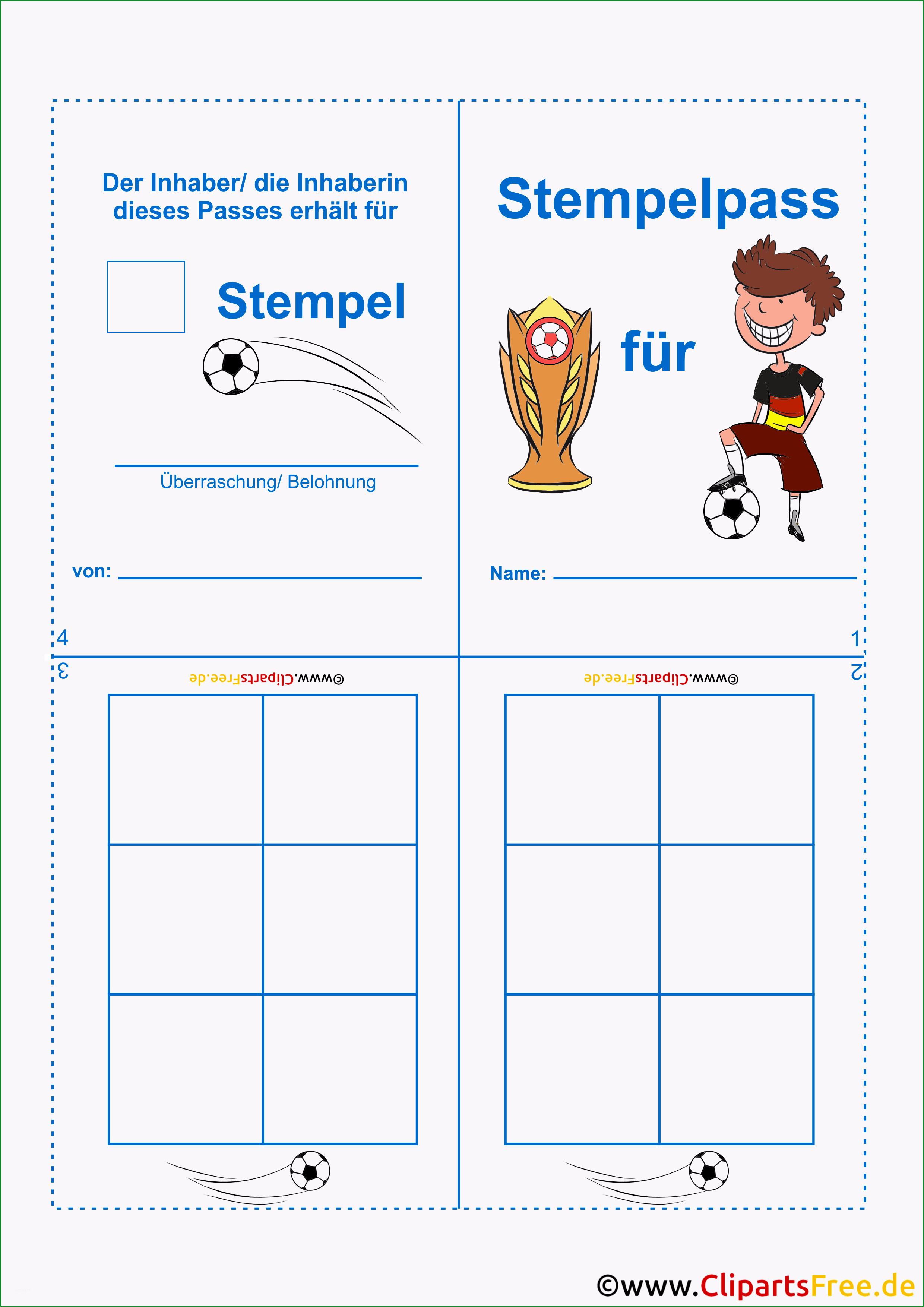 Sensationell Stempelkarte Vorlage Für Kinder