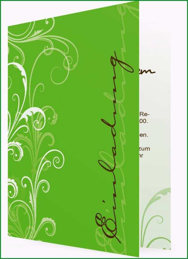 Vorlage fuer Geburtstagseinladung mit Text Weisse Blumen Ornamente vor Gruenem Hintergrund 152c4 23