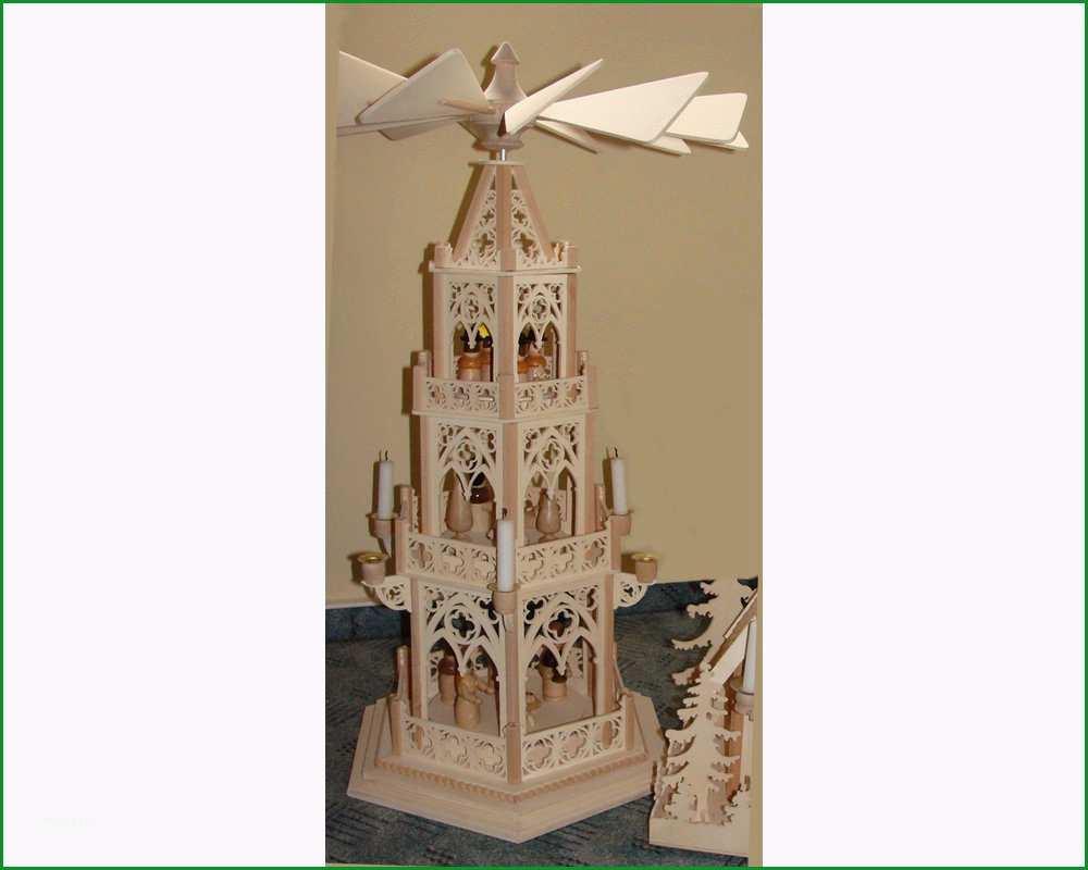 Weihnachtspyramide Vorlage Gothischer Stil 3 stoeckig