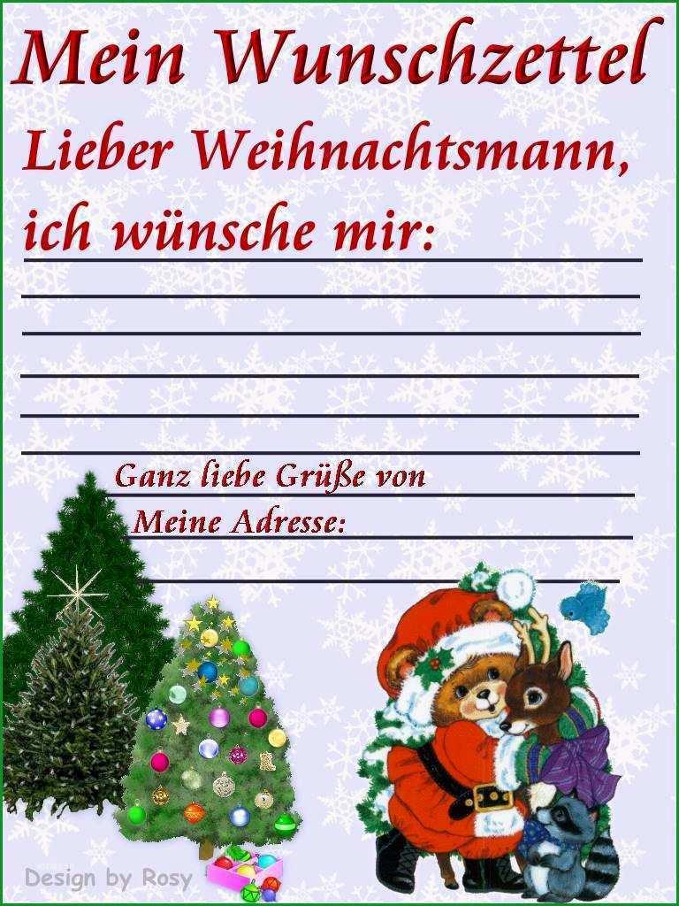 wunschzettel weihnachten vorlage genial weihnachts wunschzettel