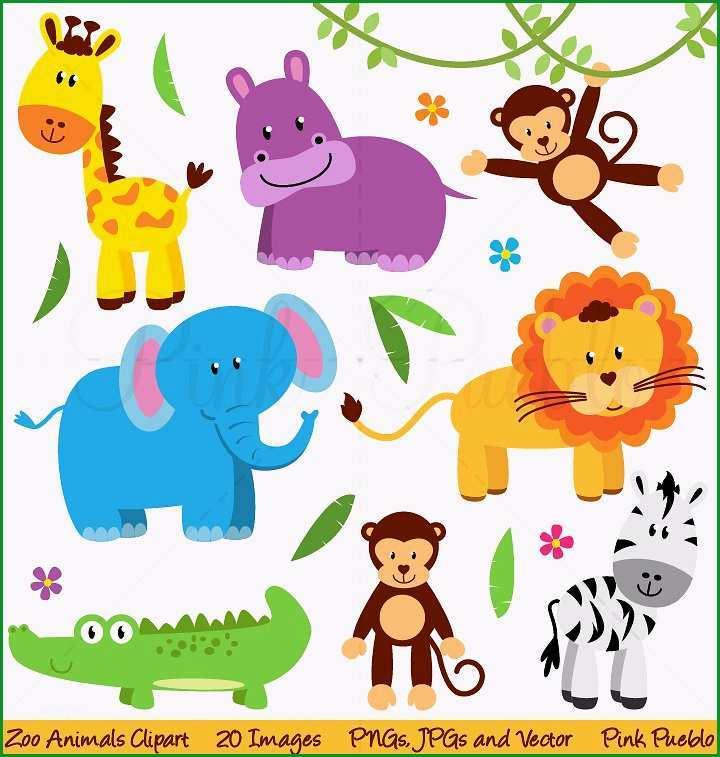 Zoo Jungle Safari Animals Clipart