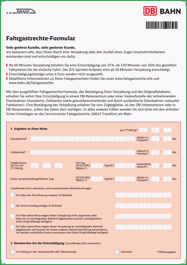 Beschwerde Deutsche Bahn Vorlage