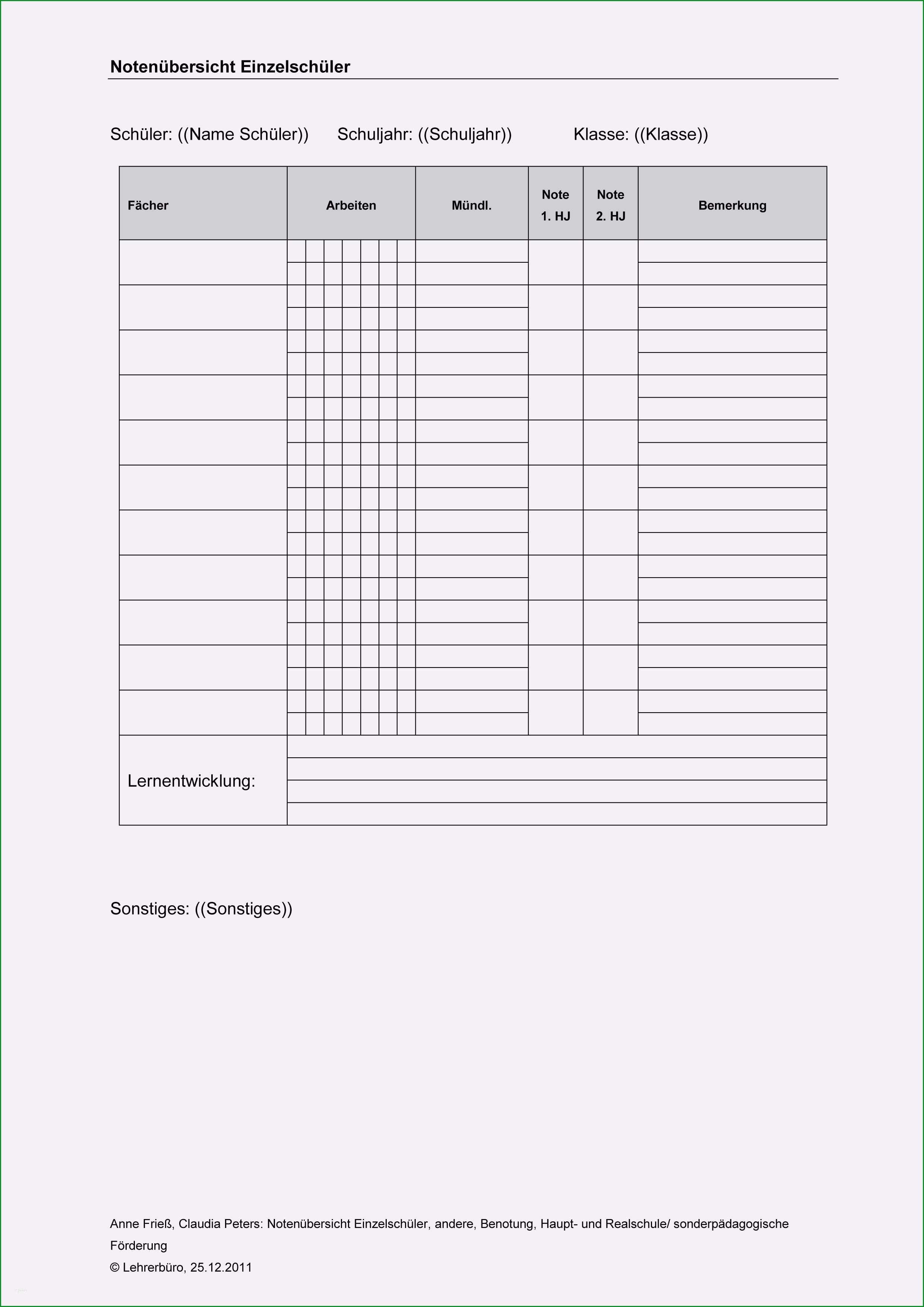 12 inhaltsverzeichnis vorlage schule