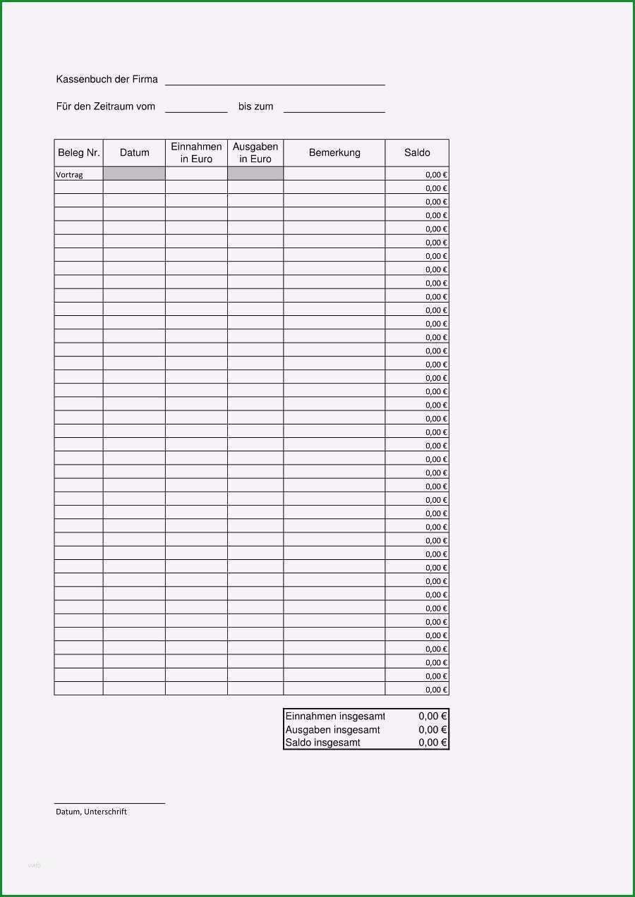 13 fahrtenbuch vorlage pdf kostenlos