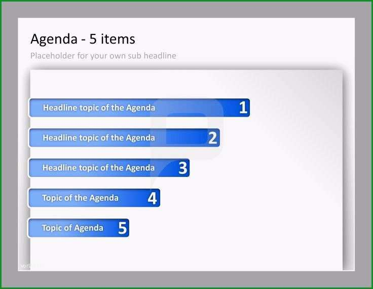 agenda powerpoint
