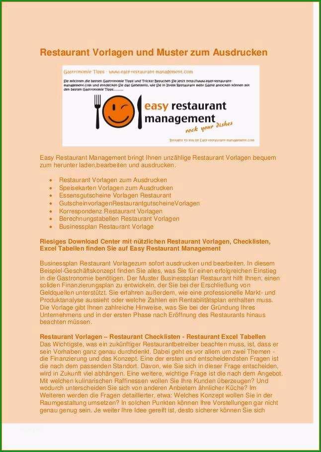 8 businessplan vorlage gastronomie