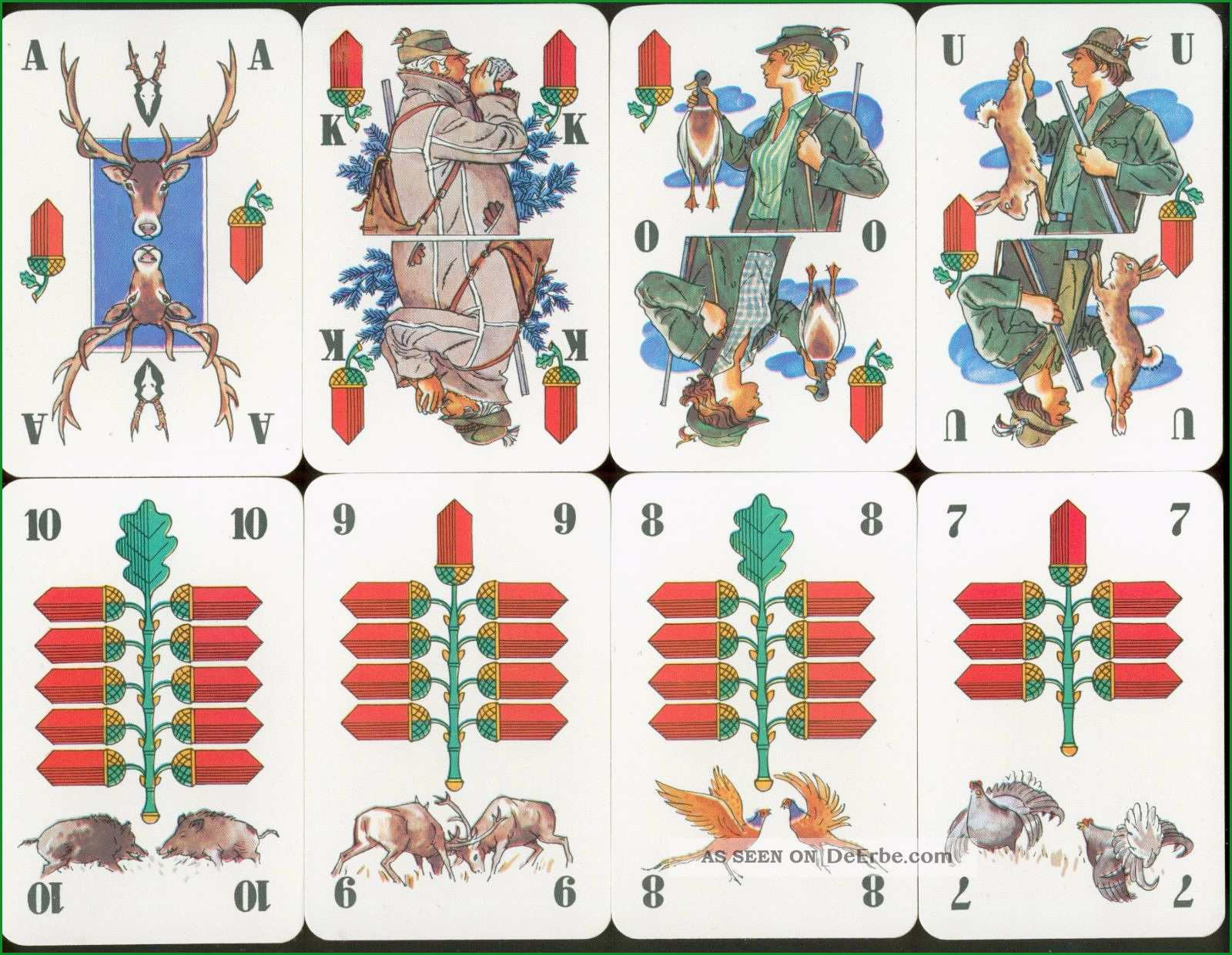 alte spielkarten kartenspiel skat mit jagdmotiven 32 1 blatt deutsche farben