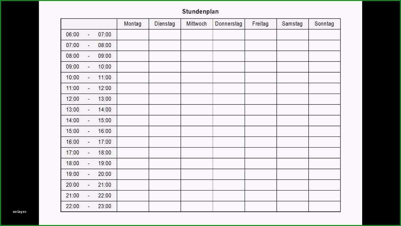 aufgabenplanung excel vorlage hubscher stundenplan tagesplan wochenplan zum ausdrucken