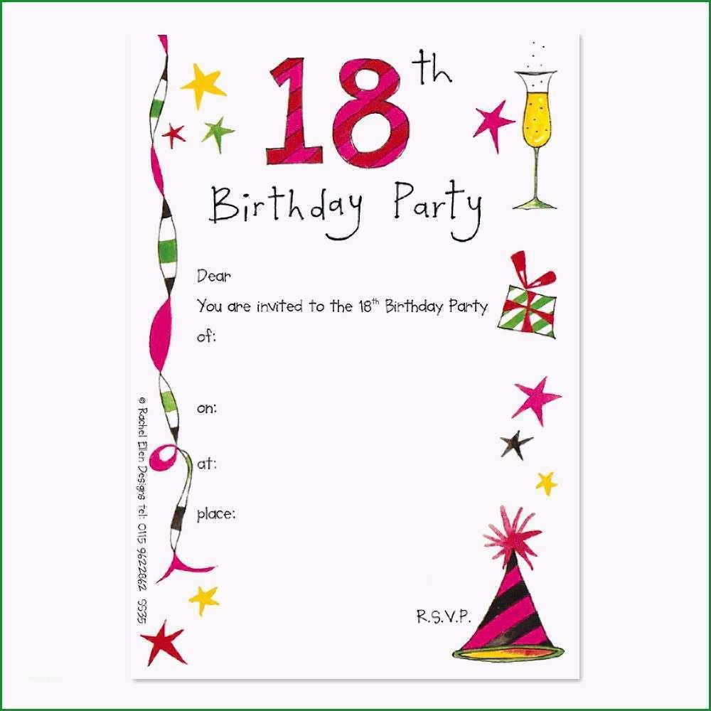 Toll Einladung Zum 18 Geburtstag Vorlage Kostenlos
