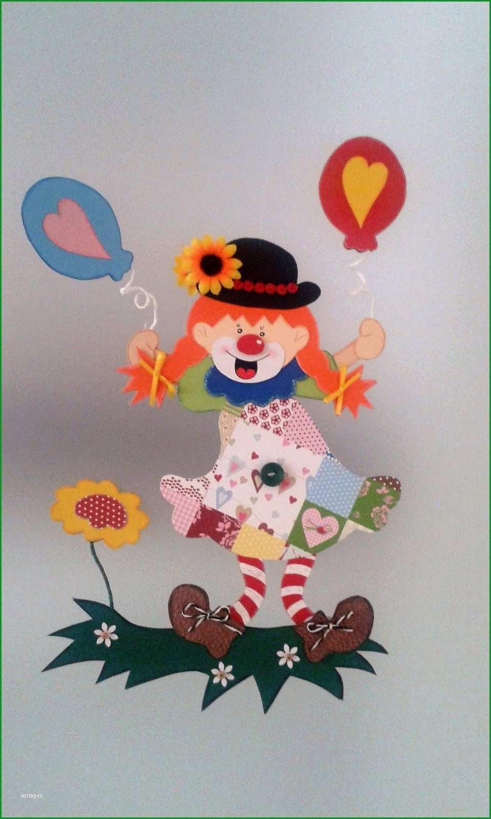fensterbild clownmadchen fasching karneval dekoration tonkarton for clown basteln vorlage