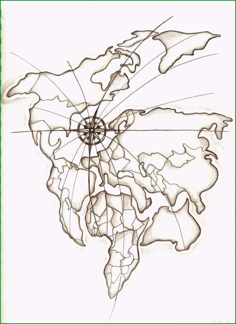 franzistattoos17 weltkarte tattoos von tattoo bewertungde weltkarte tattoo vorlage