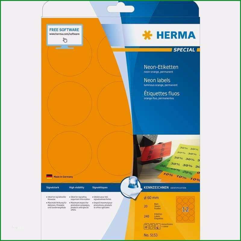 herma special etiketten vorlage erstaunlich herma universal etiketten special rund 60 mm neon