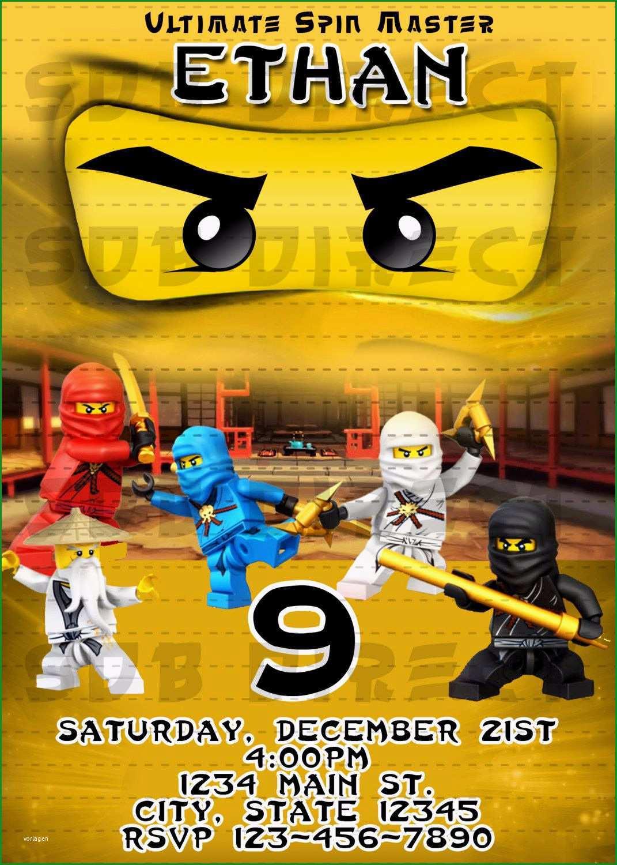 ninjago einladungskarten vorlage zum ausdrucken