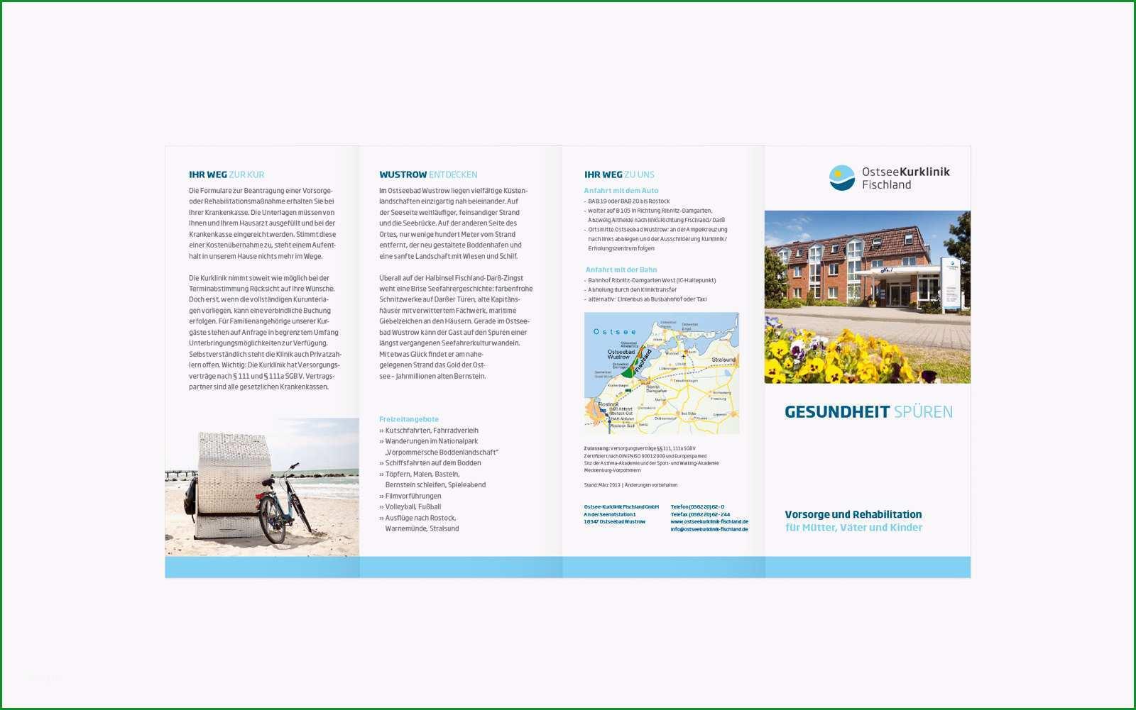 ostseekurklinik wustrow logoentwicklung und corporate design