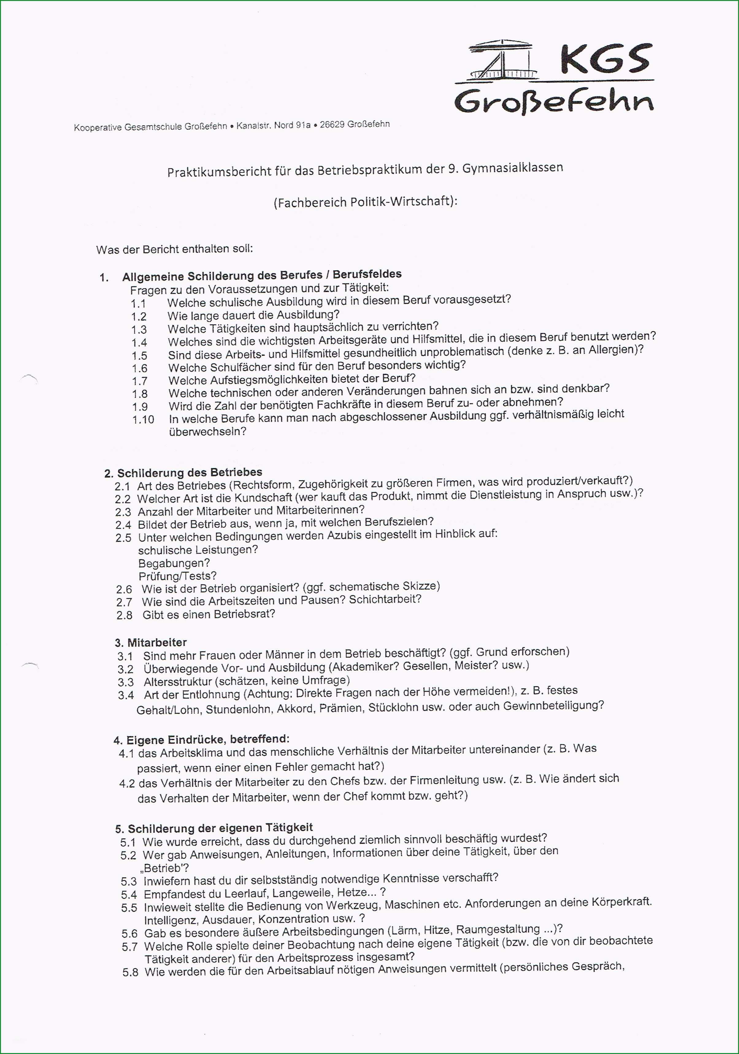 praktikumsmappe vorlage 9 klasse