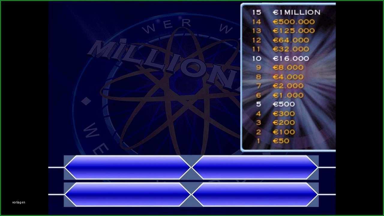 quiz vorlage powerpoint wer wird millionar start 1 youtube