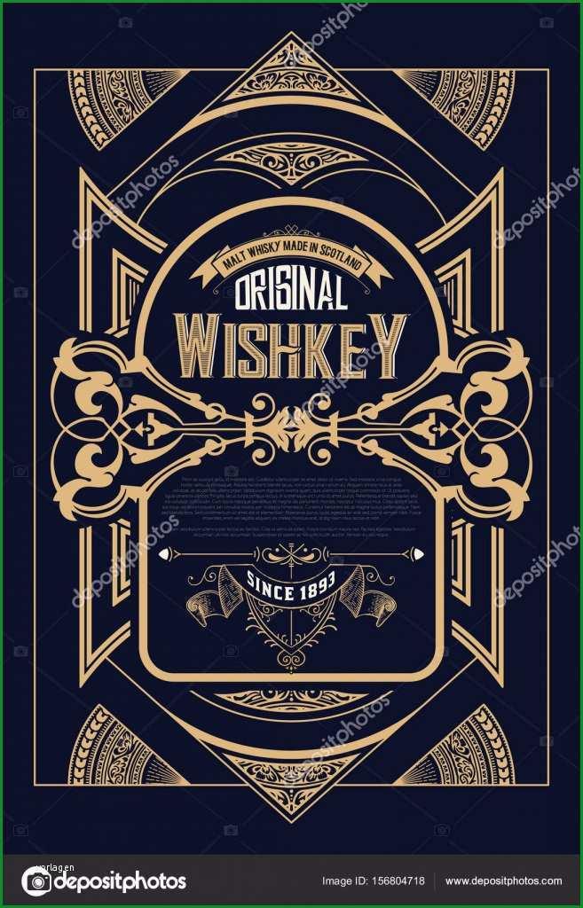 stock illustration retro whiskey label vector