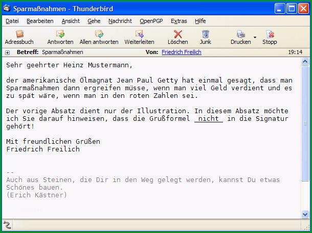 Signatur E Mails und Postings