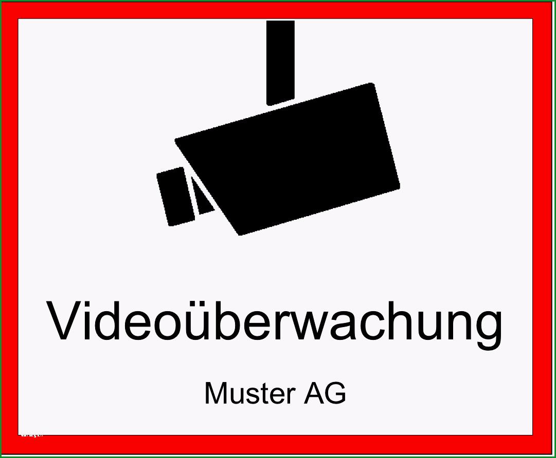 videoueberwachung hinweisschild gratis word