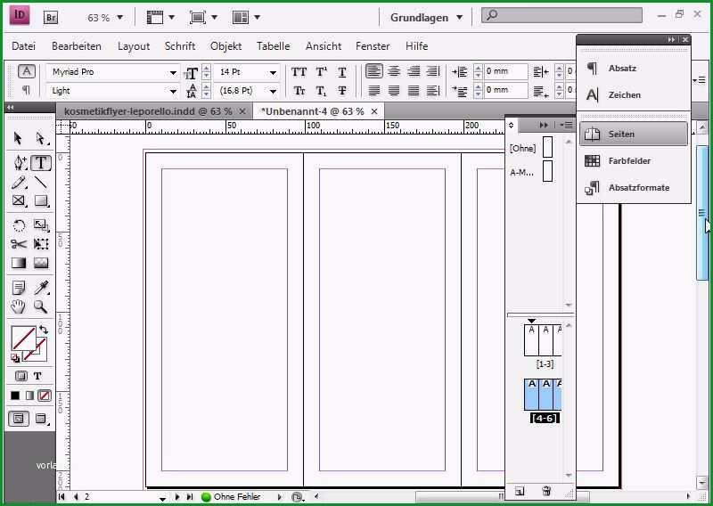 vorlage flyer indesign komplett flyerdesign im faltformat am beispiel eines