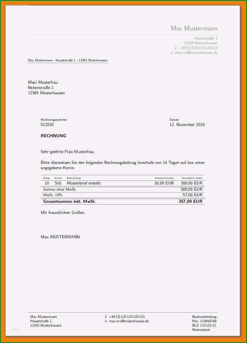 vorlage privatrechnung design sowie privatrechnung ohne mwst vorlage